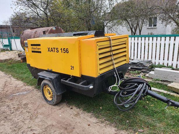 Дизельный компрессор Atlas Copco XATS 156 бурение скважин пескоструй
