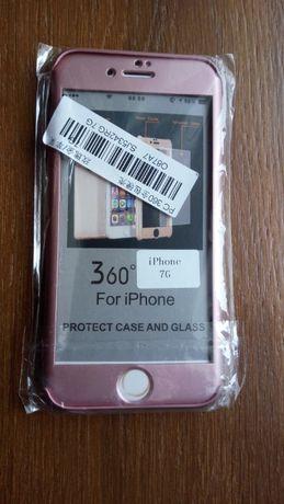 Чехол для iPhone 7 с закаленным стеклом
