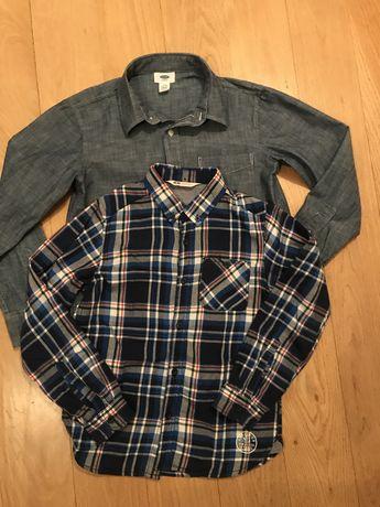 Koszule 2 szt, H&M, Old Navy rozm 140