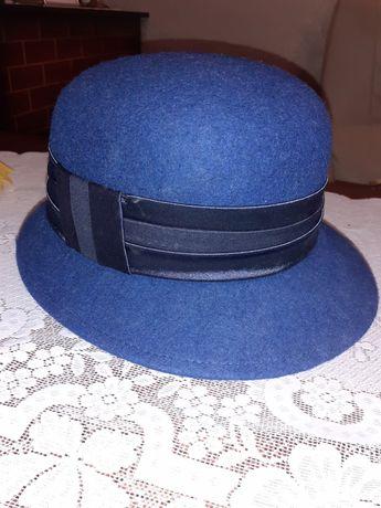 Nowy kapelusz granatowy cieply zimowy 56