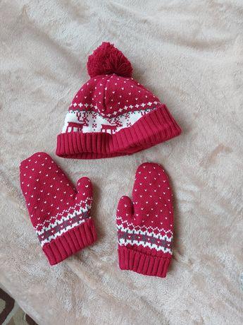 Шапка рукавички набор
