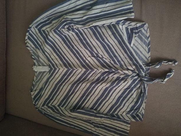 Кофта-рубашка в полоску