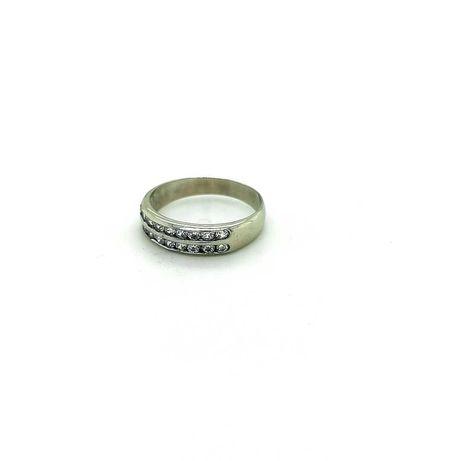 pierścionek złoty pr.375-BIAŁE ZŁOTO