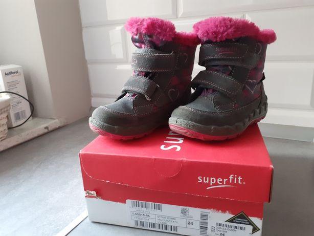 Buty zimowe, śniegowe Superfit rozm. 24, 15,3cm