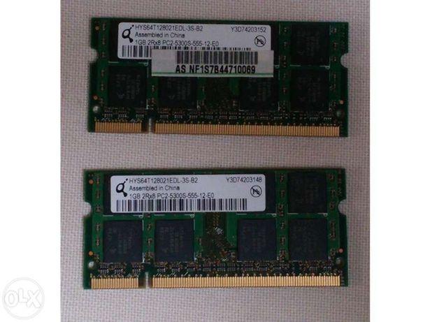Memória RAM PC2 (2 x 1GB)