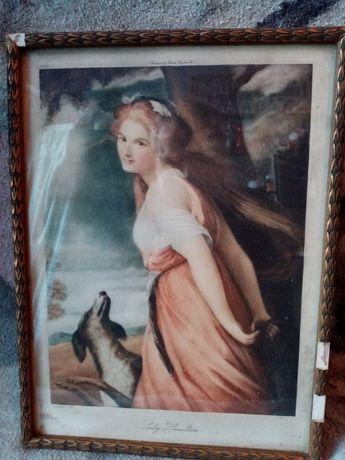 Obraz litografia Leydy Haminphton!!