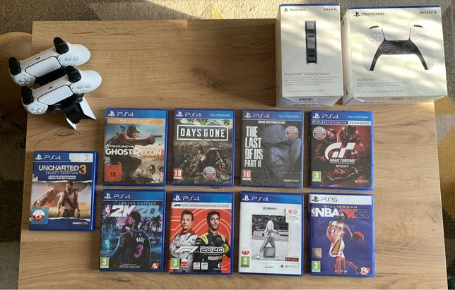 Gry na PS4/PS5 (m.in.: FIFA,NBA,F1,Days Gone)