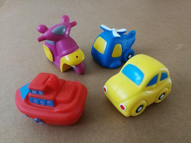 Zabawki do kąpieli pojazdy - komplet, stan bardzo dobry!