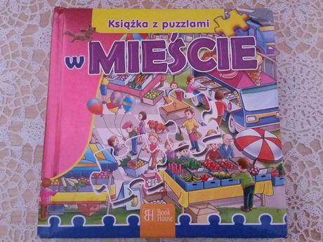 Książka z puzzlami W mieście