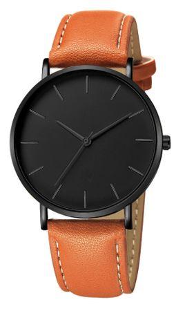 Fajne zegarki męskie. Brązowy i czarny pasek