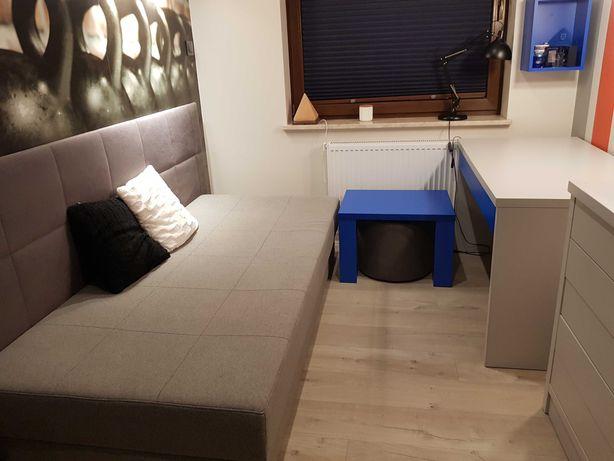 Łóżko, stolik, pufa, biurko, półki, komoda - do pokoju nastolatka