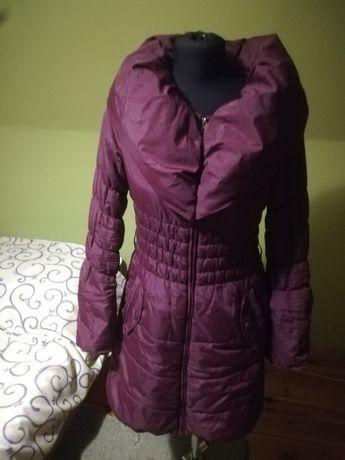 Bordowa kurtka - płaszcz Orsay