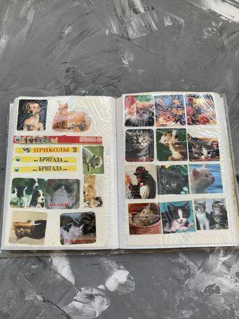 Наклейки 2000х с котиками и собачками и фильмами кино