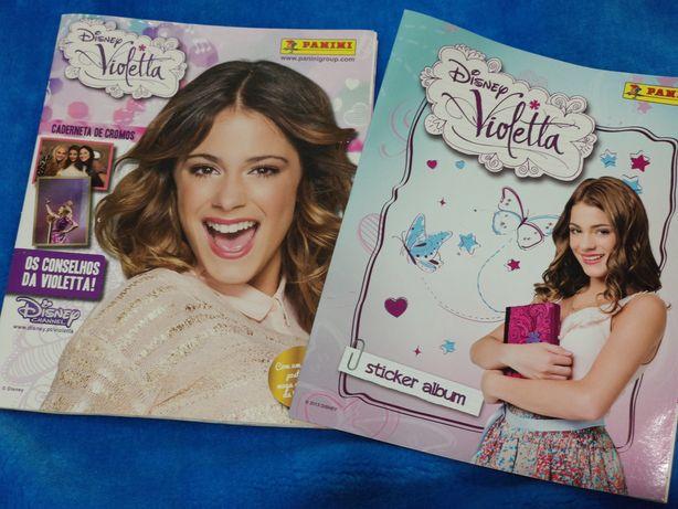 Caderneta de cromos da Violetta 1 e 2 da Disney e panini (ler inf)