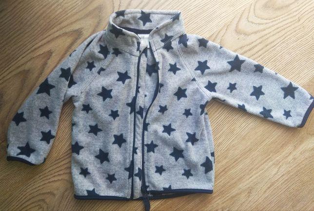 Bluza polarowa h&m gwiazdki 74