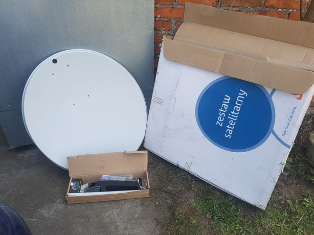 Zestaw satelitarny, antena -  nowy komplet.