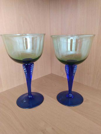 Para kieliszki do wina szkło dwu kolorowe nowe w opakowaniu Pasabahce
