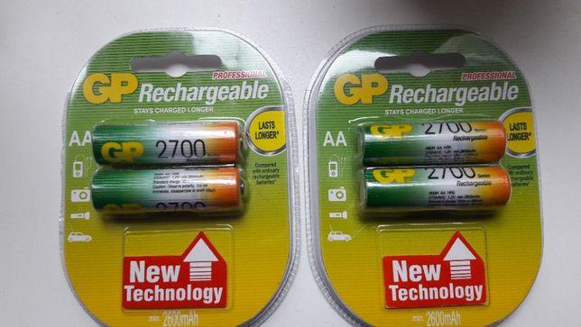Аккумуляторы GP AA 2700mAh 2шт (R6) NiMh, 1.2V