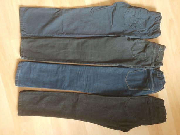 4 x dżinsy i kurtka rozmiar 146