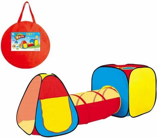 Kolorowy Namiot Domek Tunel Plac Zabaw Zestaw 3W1
