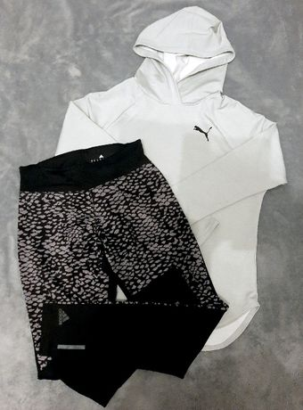 Mega Zestaw! Bluza Puma i legginsy Adidas S