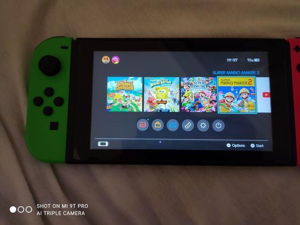 Nintendo Switch + 8 gier