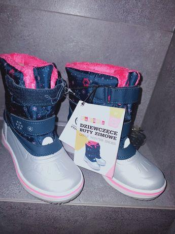 Dziewczęce buty zimowe 27