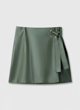 Женская кожаная юбка-карандаш