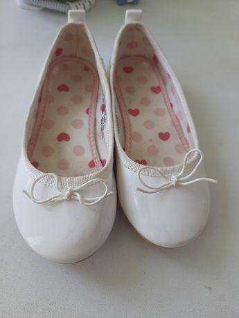 Балетки белые для девочки, мешти для дівчинки