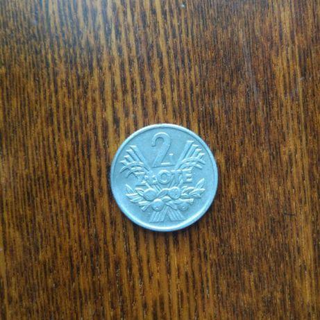 Монета 2 злотых (Польша) редкая