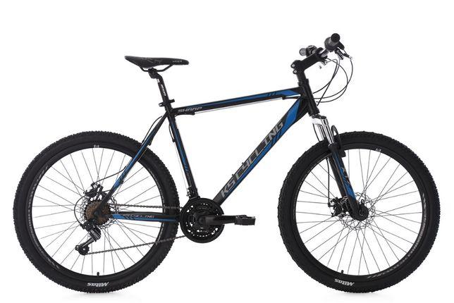 """Rower górski hardtail 26 """"Sharp 21 biegów czarno-niebieski"""