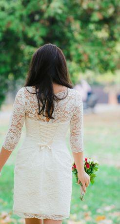 Белое платье на роспись/свадьбу/нарядное