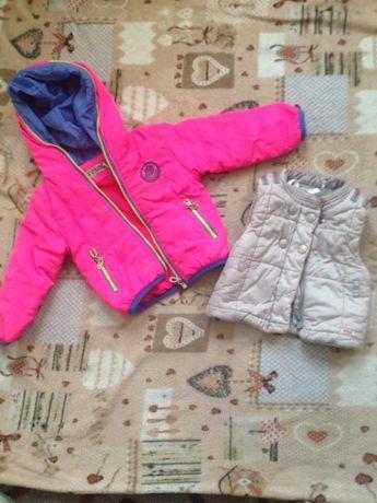 Курточка и жилетка демисезонная на 1 годик