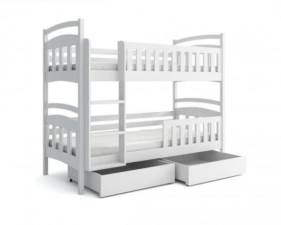Łóżko sosnowe piętrowe dla 2 dzieci! Kolory do wyboru