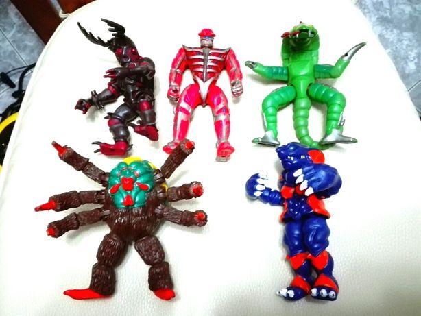 Lote de power rangers e evil mutants from space