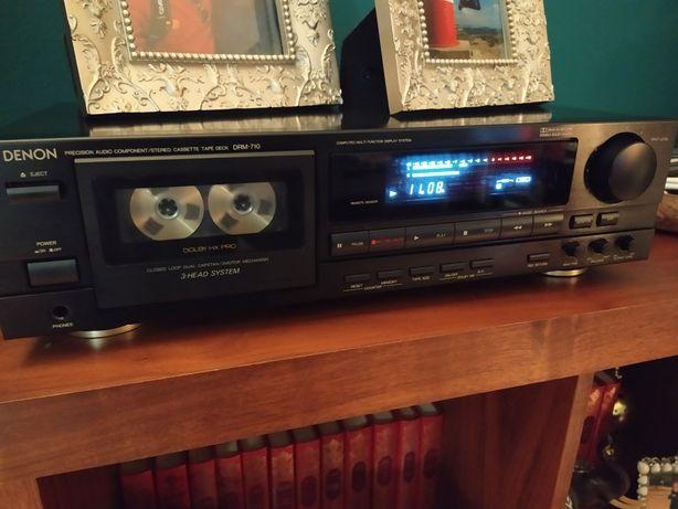 """Denon DRM 710 Tape Deck Cassetes 3 Cabeças """"Vintage Golden Áudio"""""""