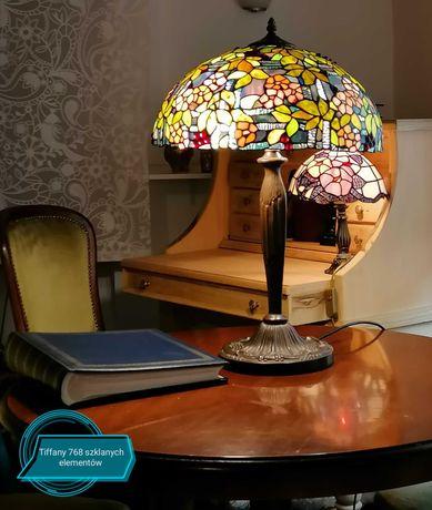 Luxusowa lampa witrażowa Tiffany firmy Honsel.