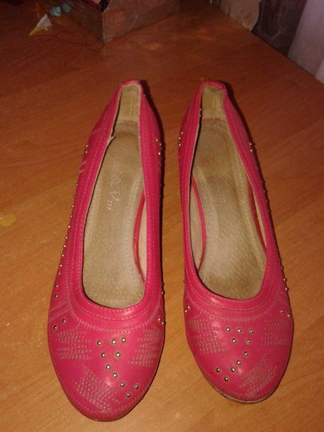 Туфли осенние розовые для девочки 38 размер