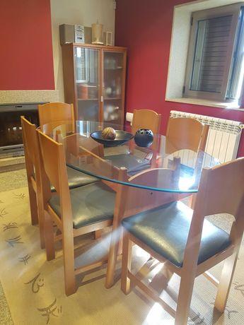 Sala de Jantar em Faia, madeira maciça