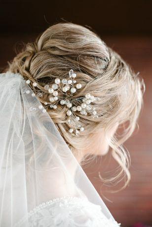 Украшение аксессуары для волос веточка у причёску свадебной
