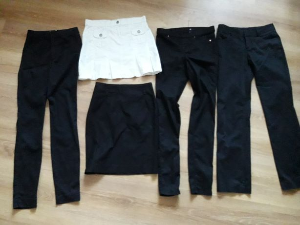 Paka ubrań XS /34 spodnie spódniczki