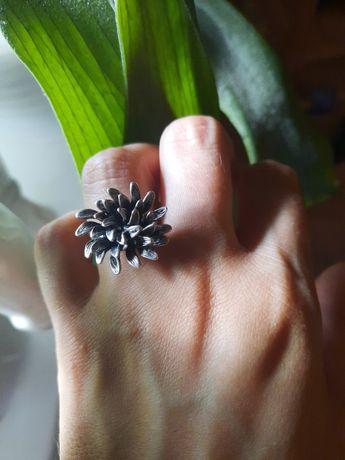 Srebrny pierścionek Kruk