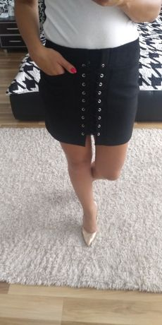 Spódnica zamszowa