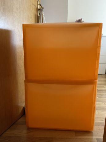 2 Sapateiras laranja ikea