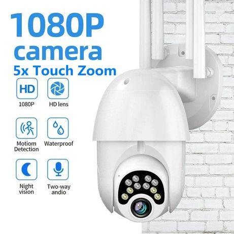 Câmera de segurança 1080P, 10 LED 5X Zoom  IP WiFi  com visão noturna