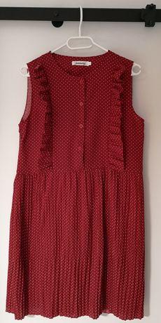 Sukienka piękna czerwień, większe M, nowa
