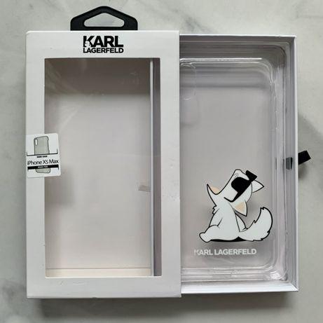 Etui przezroczyste iPhone XS Max Karl Lagerfeld nowe, nieużywane