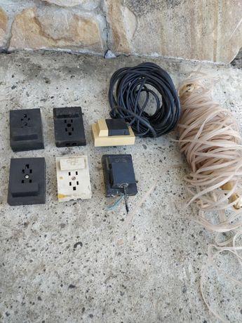 Дріт телефонний, кабель , розетки, коробки