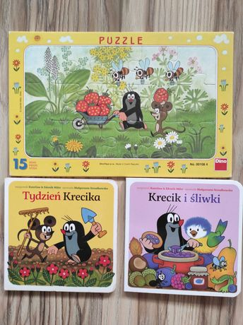 Zestaw puzzle + 2 książeczki krecik