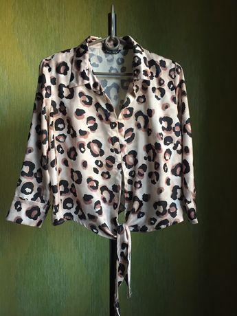 Блузка женская в животный принт р. s-m